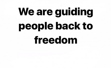 We are guiding people back to freedom